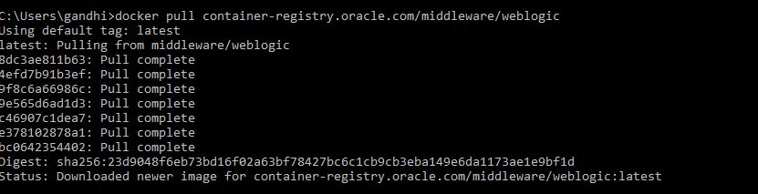 Docker : Oracle Weblogic Container « All about Database