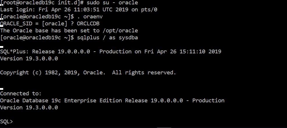 Oracle 19c Install using RPM with vagrant+ansible « All